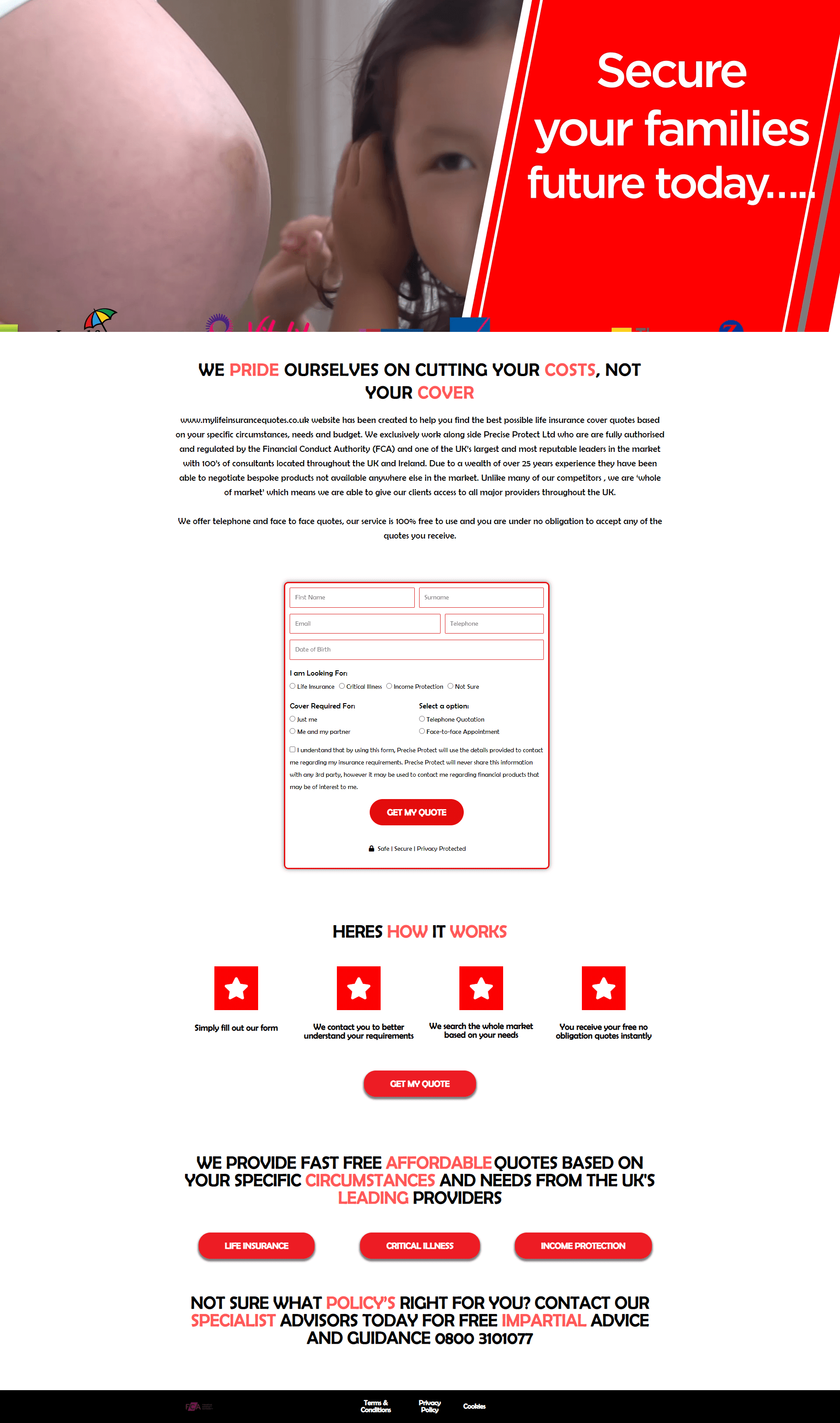 covered4life-co-uk-Landing Page